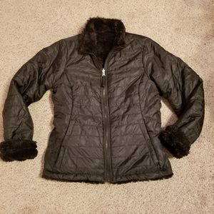 Me Jane Reversible Quilted Faux Fur Jacket 12
